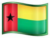 Guinea Bissau Flag Icon.