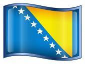 Bosnia And Herzegovina Flag Icon.