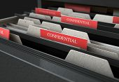 Filing Cabinet Drawer Open Confidential poster