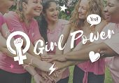 Girl Power Equality Feminist Womens Right Concept poster
