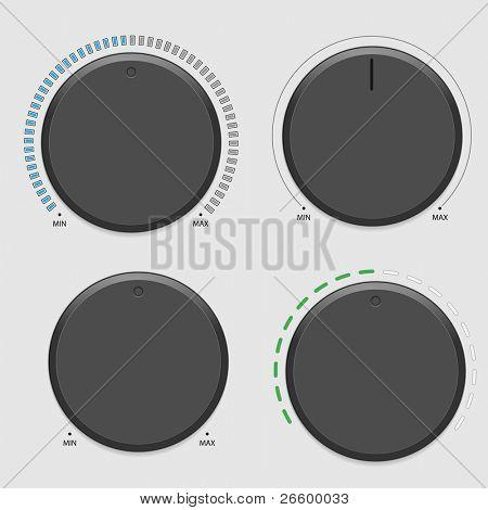 Four vector volume dial