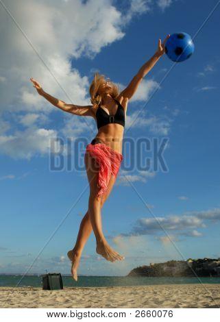 Jumping Blond Beauty