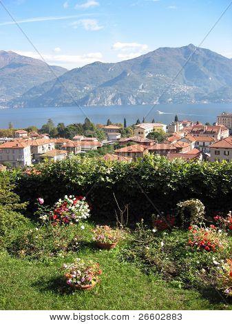 View to Menaggio and famous Italian lake Como