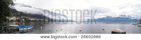 Vista panorâmica do Lago de Genebra