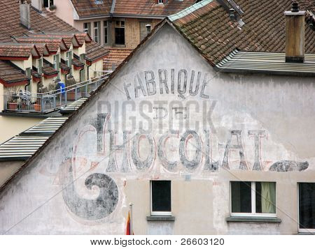 Old chocolate factory in Bern, Switzerland