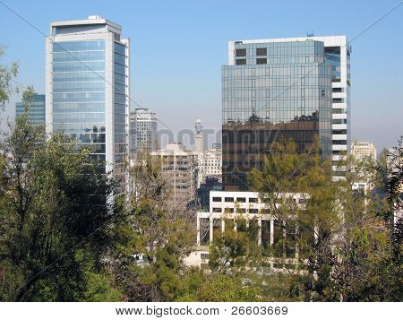 Santiago, Chile. View from Santa Lucia hill