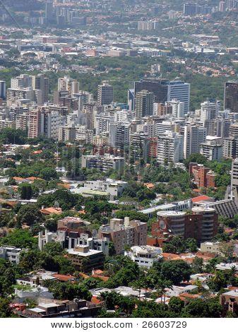 Vista aérea de Caracas
