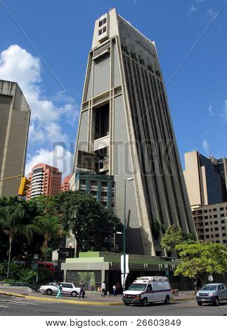 Wigwam-like building in the Caracas downtown