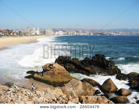Pacific coast near Vina del Mar