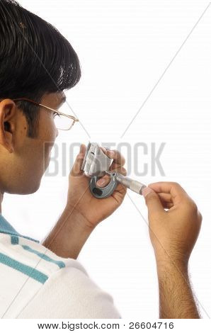 Measuring a component