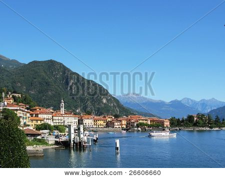 Lake Como and Menaggio town, Italy