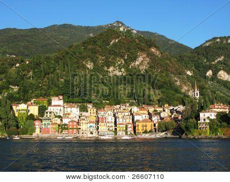 Varenna town at the famous Italian lake Como