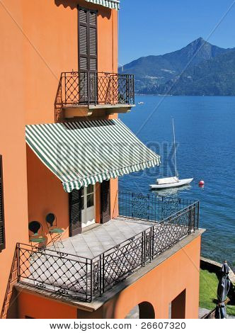 View to the lake Como from Menaggio town, Italy