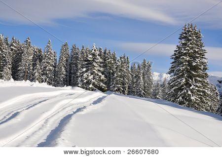Majestic alpine scenery. Braunwald, Switzerland