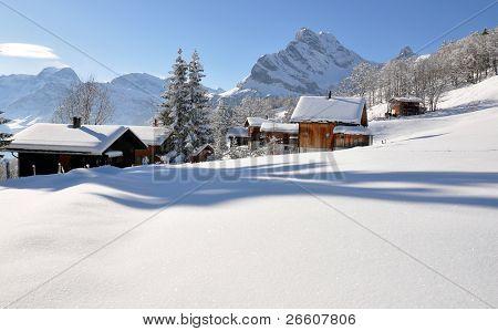 Alpine Landschaft, Braunwald, Schweiz