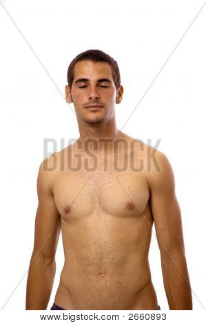 Isolated Hispanic Man