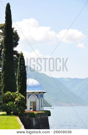 Park of Villa Melzi at the lake Como, Italy