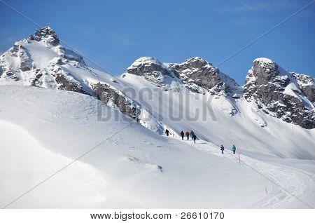 Hiking in Pizol, famous Swiss skiing resort