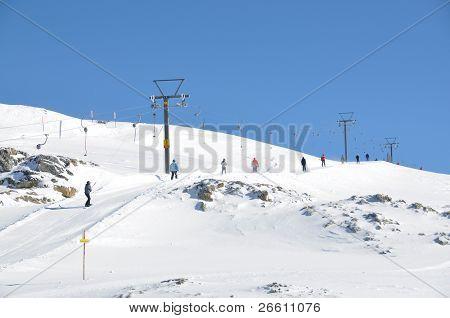 Pizol, famous Swiss skiing resort