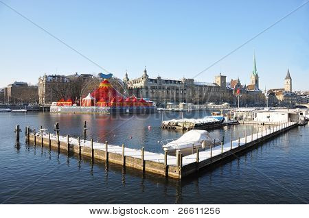 Vinter vista de Zurich