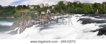 Rhinefall in Schaffhausen, Switzerland, the largest Waterfall in Europe