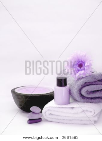 Purple Spa Scene