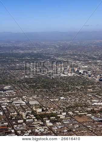 Bird-eye View of Phoenix, AZ
