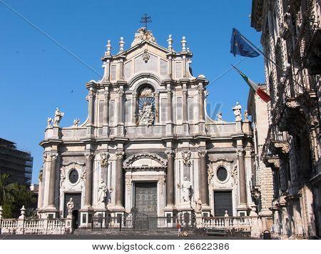 Catania the cathedral of Santa Agata in the square Duomo