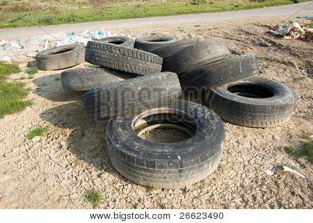 tires discarded