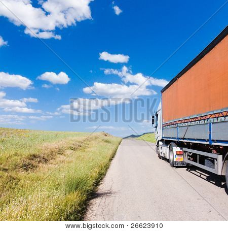 landscape for truck on the road