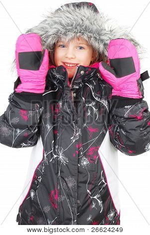 Little Girl In Ski Wear