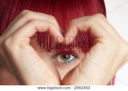 Woman Shows Heart