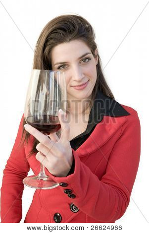 a beautiful woman drink for you
