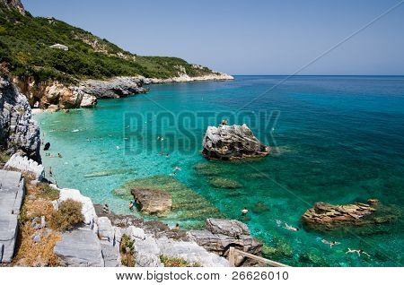 beach of Mylopotamos - Tsagarada - one of the most beautiful beaches of Pelion, Greece