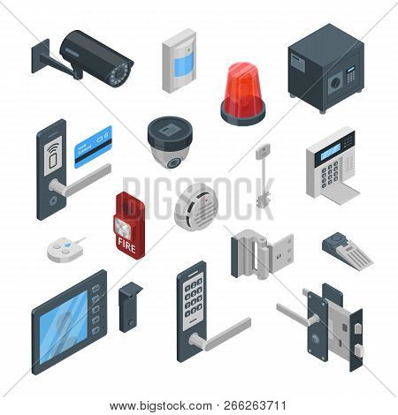 Home Security Systems Vector 3d