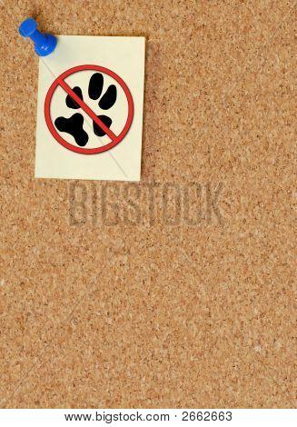 Corkboard W Tack No Pets
