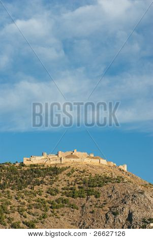 The imposing ruins of the fortress of Larissa in Argos, Greece