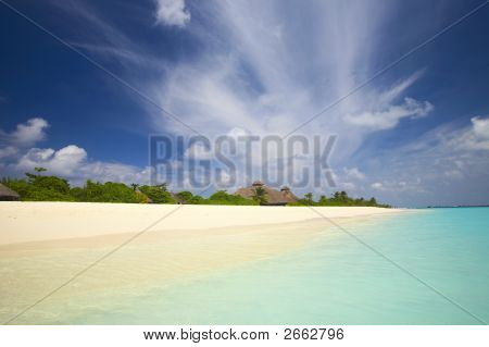 Tropical Beach In The Indian Ocean,