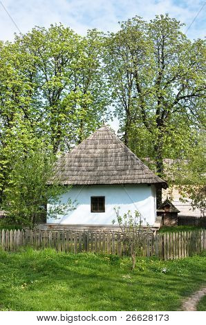 traditional farm house of village museum in Bucharest, Romania