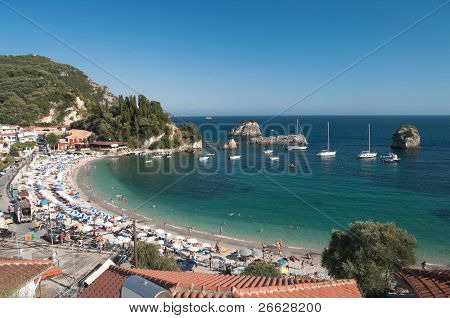 summer on the beach in Parga, Greece
