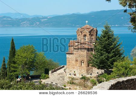 Saint John at Kaneo is a macedonian orthodox church situated on Lake Ohrid in the city of Ohrid, Republic of Macedonia