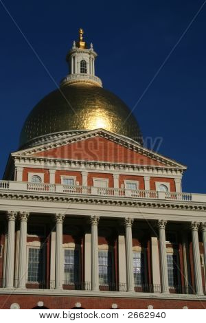 Dome & Frontage Of State House, Boston