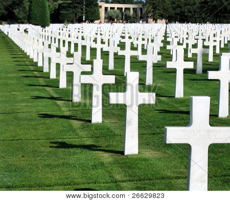 Graveyard on Omaha beach