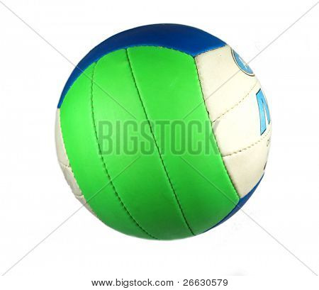 Colored volleyball isolated on white background