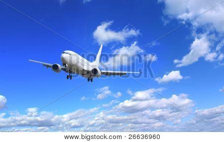 Avión con fondo de cielo perfecto