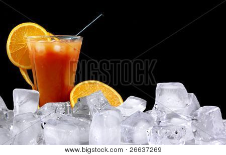 Tequila Sunrise ice drink