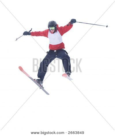 Freestyle Skier [White Background