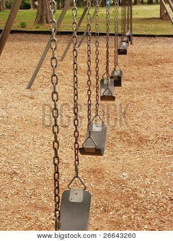 Empty swing sets