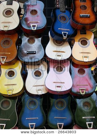 Colorful guitars, great for background