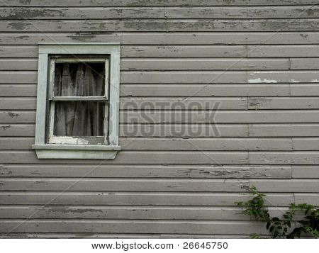 An old window of an old house